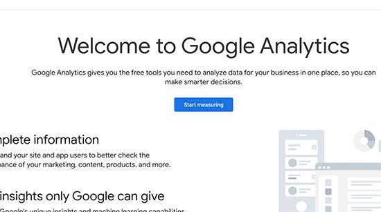 ثبت نام در گوگل آنالیتیکس