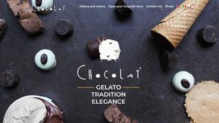 نمونه طراحی سایت شکلات میلانو که نمونه ای از سایت های صنعت مواد غذایی است