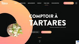 طراحی سایت رستوران kuto در کانادا
