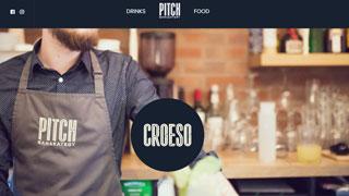نمونه طراحی سایت ساده رستوران pitchcardiff