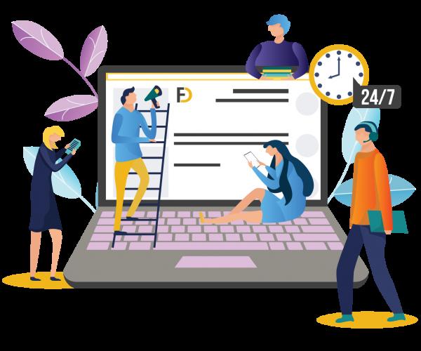 مشاوره طراحی سایت به صورت 24 ساعته